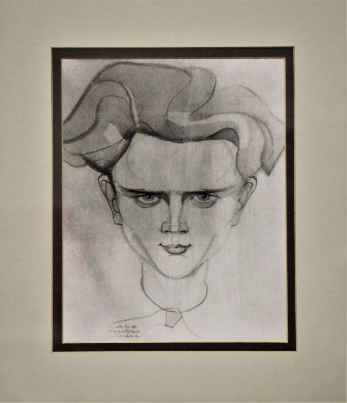 S. Džiugo portretas. 1946. Dail. J. Penčyla
