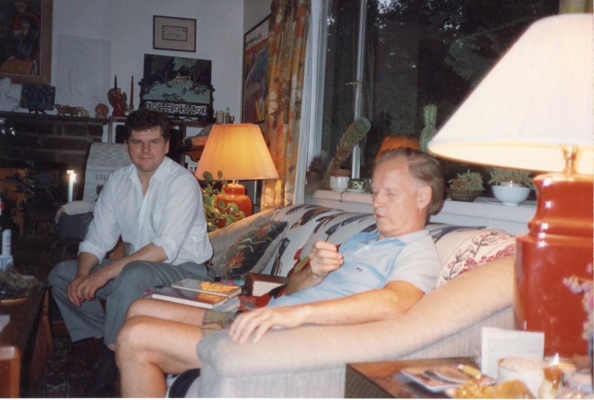 Saulius Žukas svečiuose pas A. Nyką-Niliūną, Baltimorė