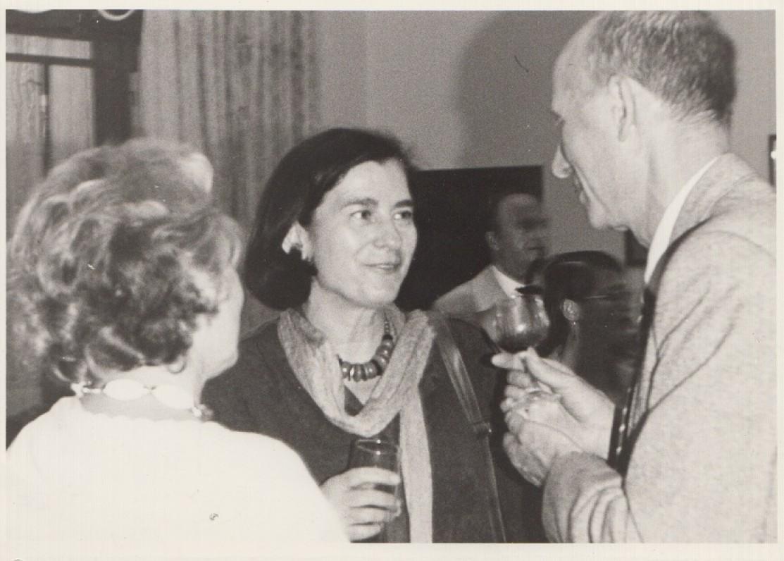 Tarptautinė literatūros konferencija Berlyne. Su rašytoja K. Wolf. 1987 m. H. Leistner nuotrauka