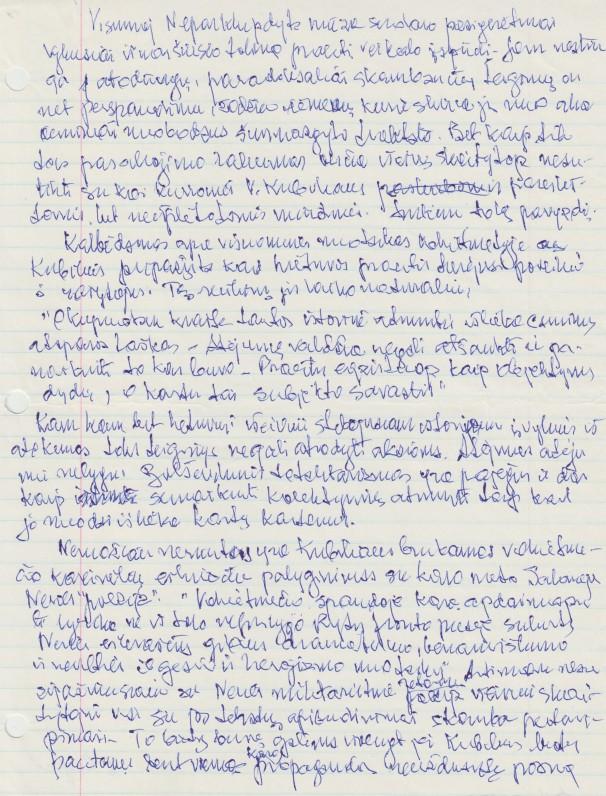 """V. A. Jonyno recenzija V. Kubiliaus knygai """"Neparklupdyta mūza"""""""