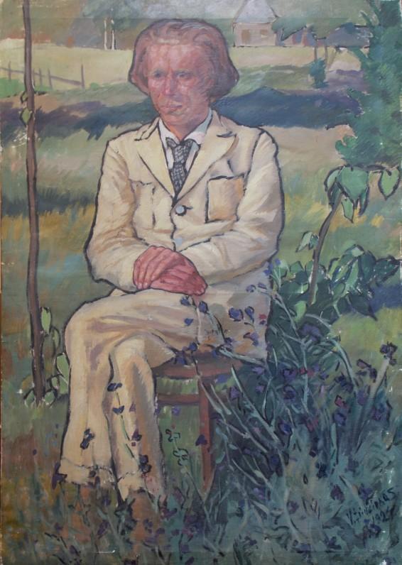 Vladas Didžiokas. P. Vaičiūno portretas. 1924 m., drobė, aliejus