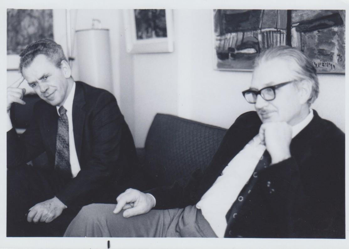 Vytautas Jonynas su Jurgiu Blekaičiu Bostone. Apie 1975 m.