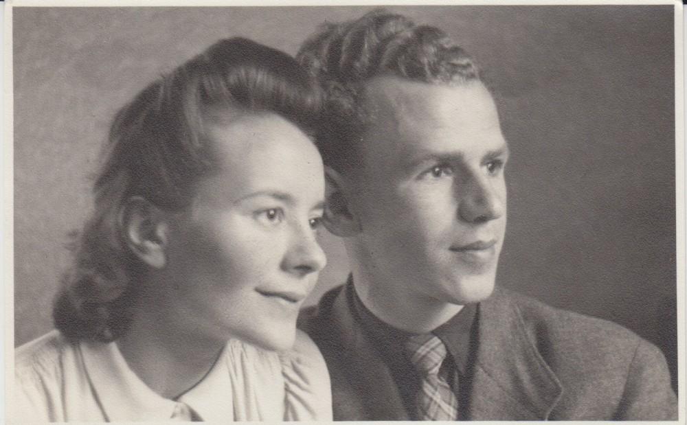 Vytautas ir Monika Jonynai Stuttgarte. 1947 m.