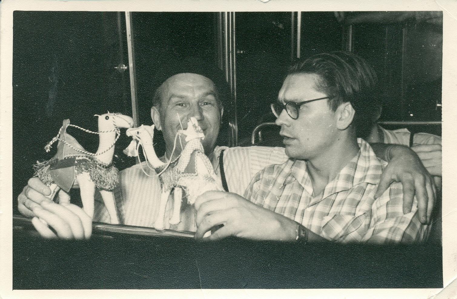 V. Miliūnas ir A. Baltakis. Egiptas, 1957 m.