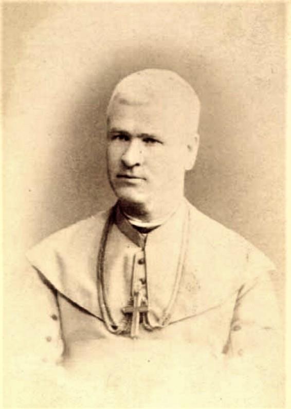 Vyskupas A. Baranauskas. Apie 1885 m.
