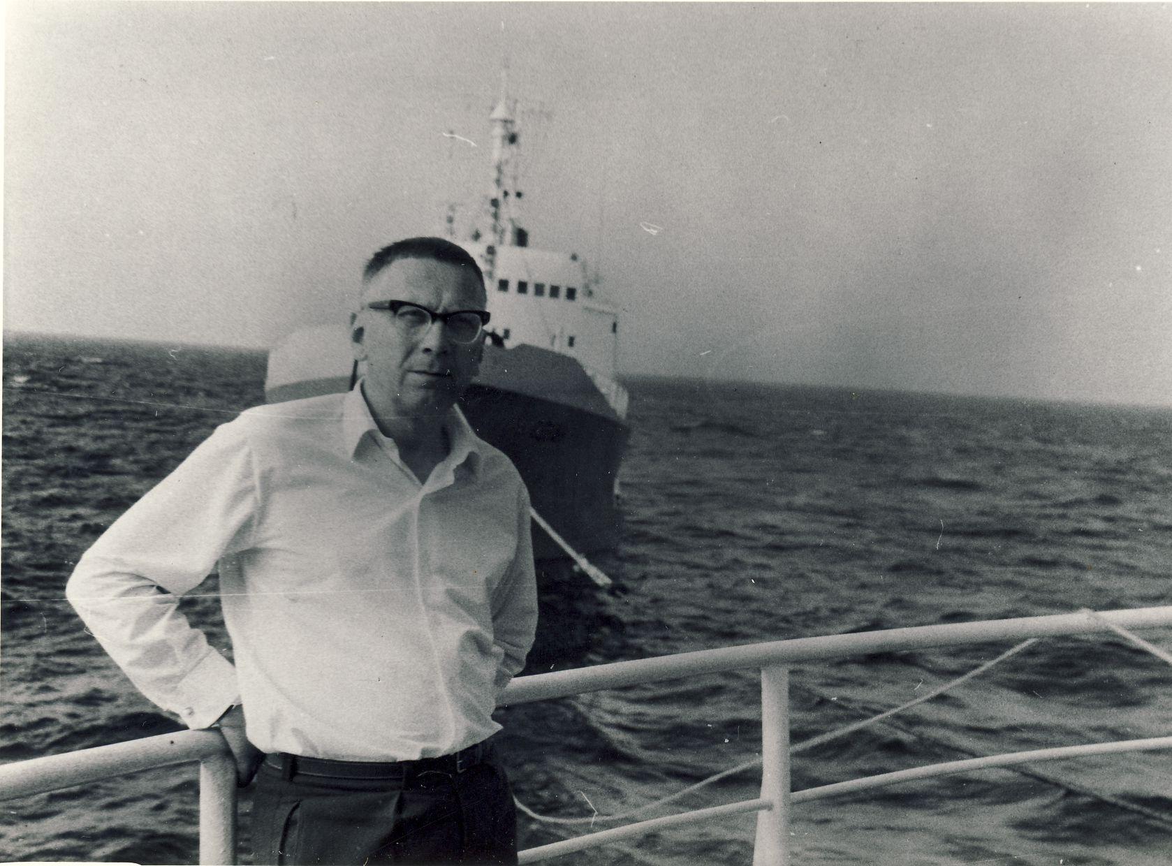 Atlanto vandenyne, plaukiant į Vakarų Afriką. 1968 m.