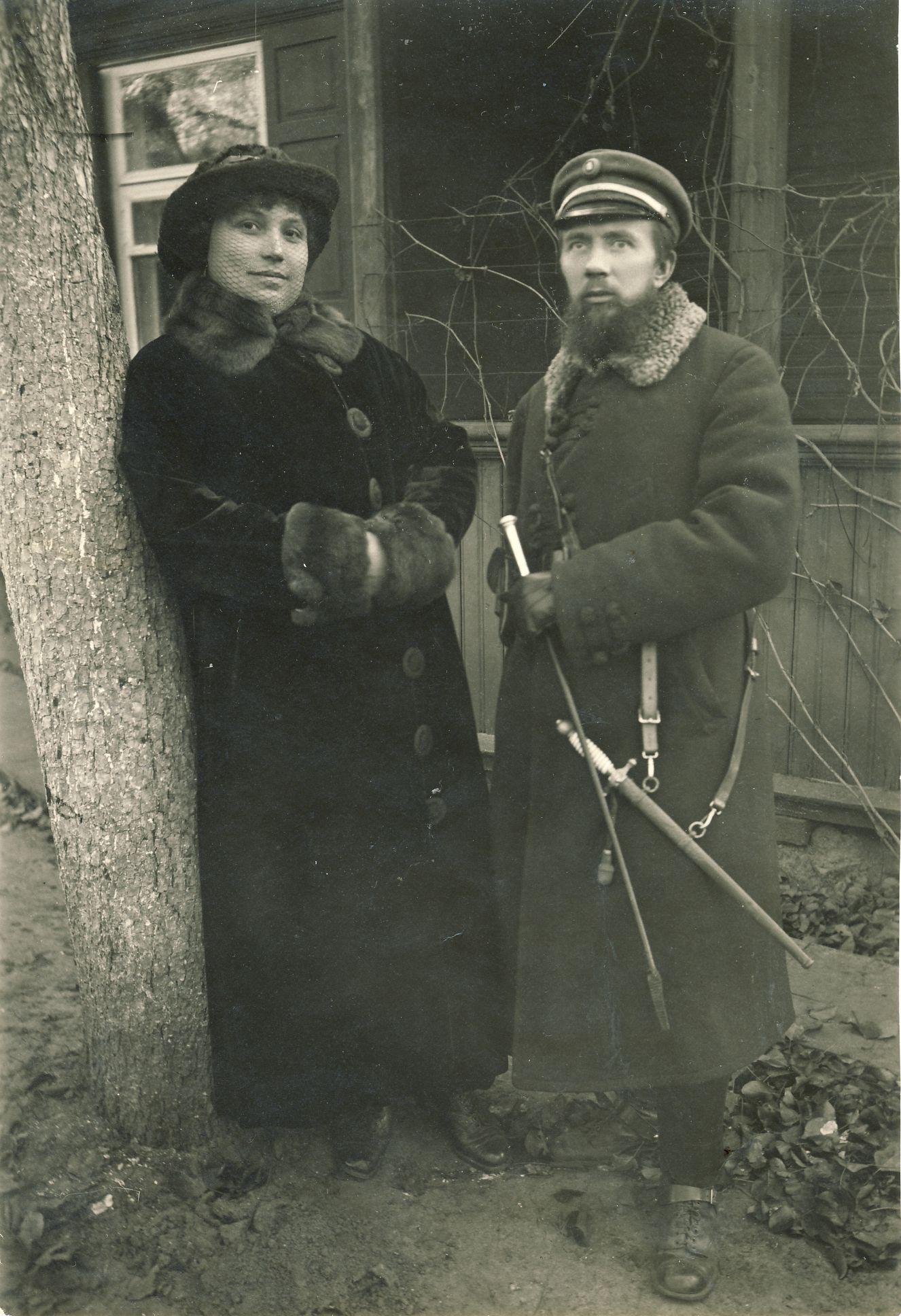 V. Sirijos Giros tėvai – Liudas Gira su žmona Brone. 1916 m.