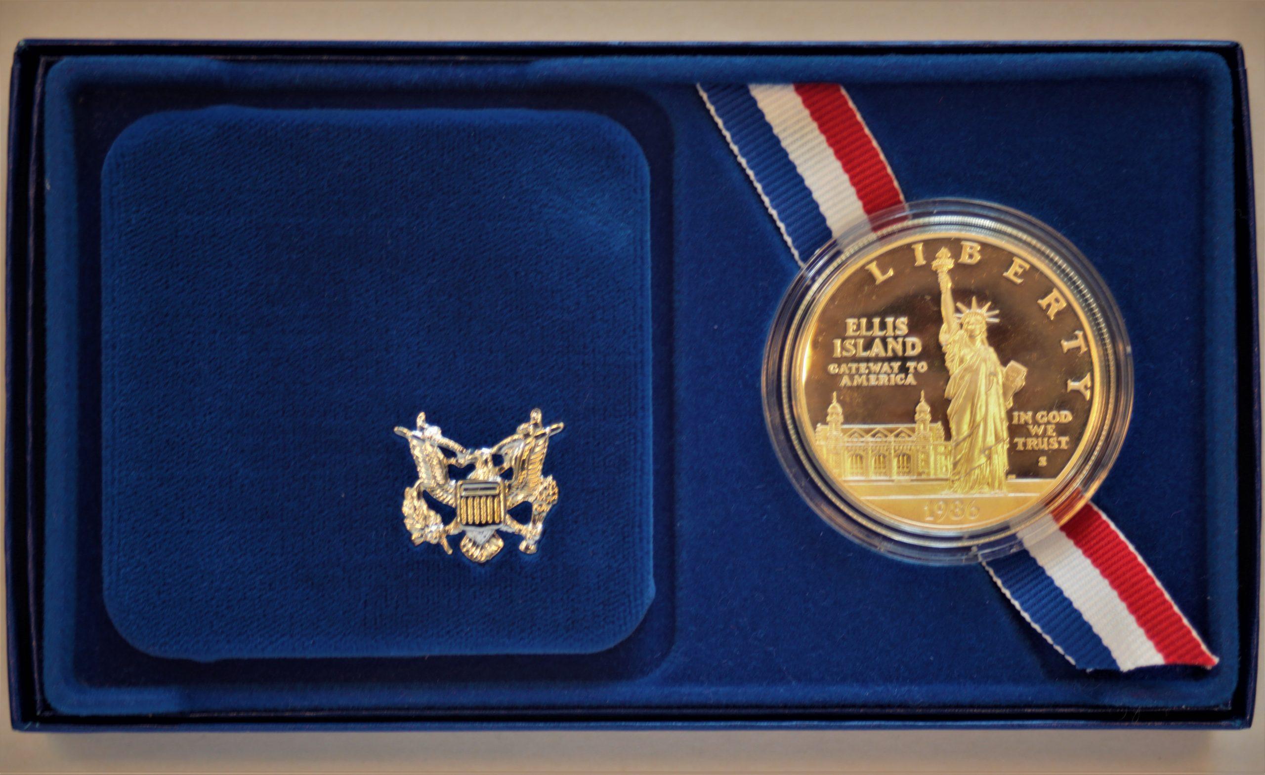ONE DOLLAR. USA. 1986.  Jungtinių Valstijų Laisvės moneta. Sidabras. Autorius nežinomas
