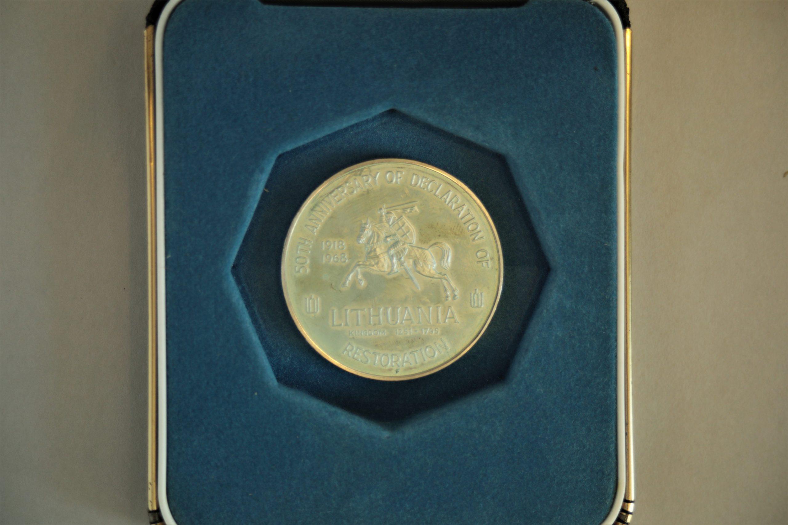 Medalis. Presidents Of Lithuania. Sidabras. Reversas. Dail. V. Kašuba