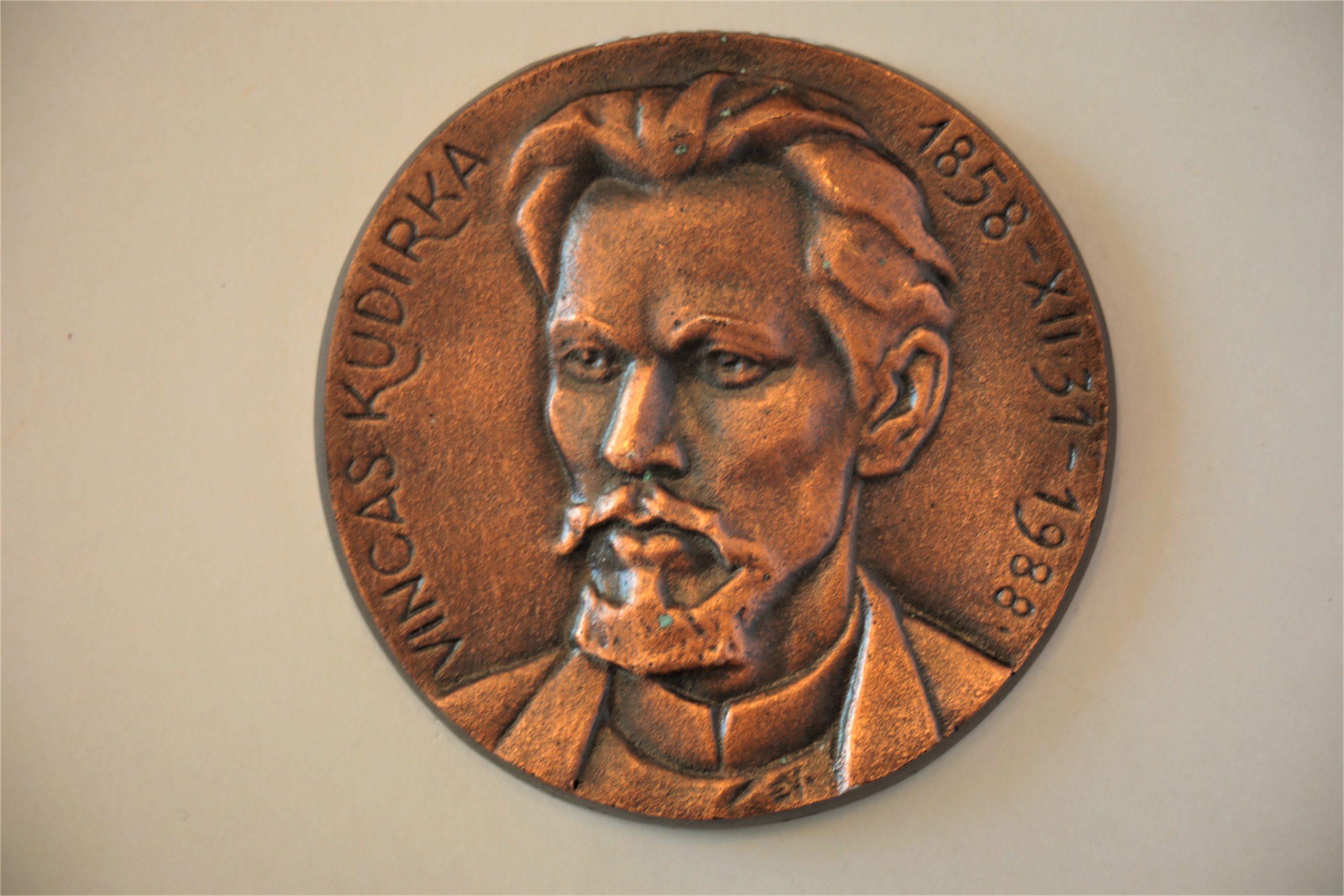 Medalis. Vincas Kudirka. Metalas. Autorius nežinomas