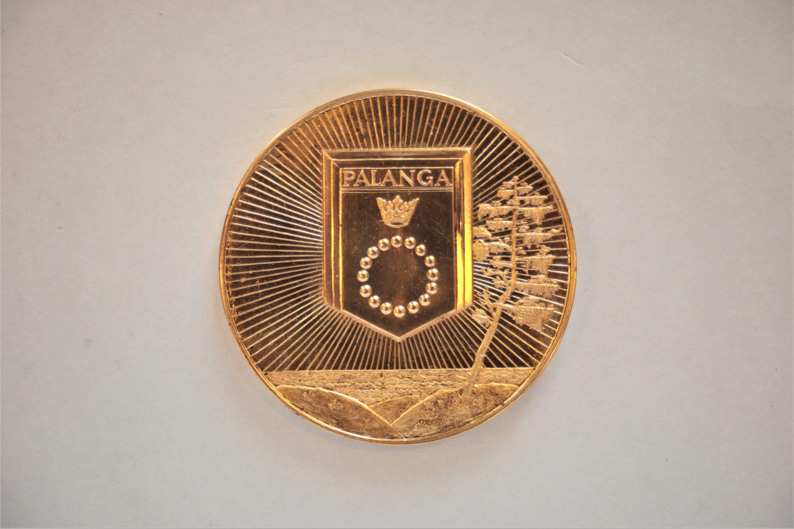 Medalis. Palanga. Geltonas metalas. Aversas. Autorius nežinomas