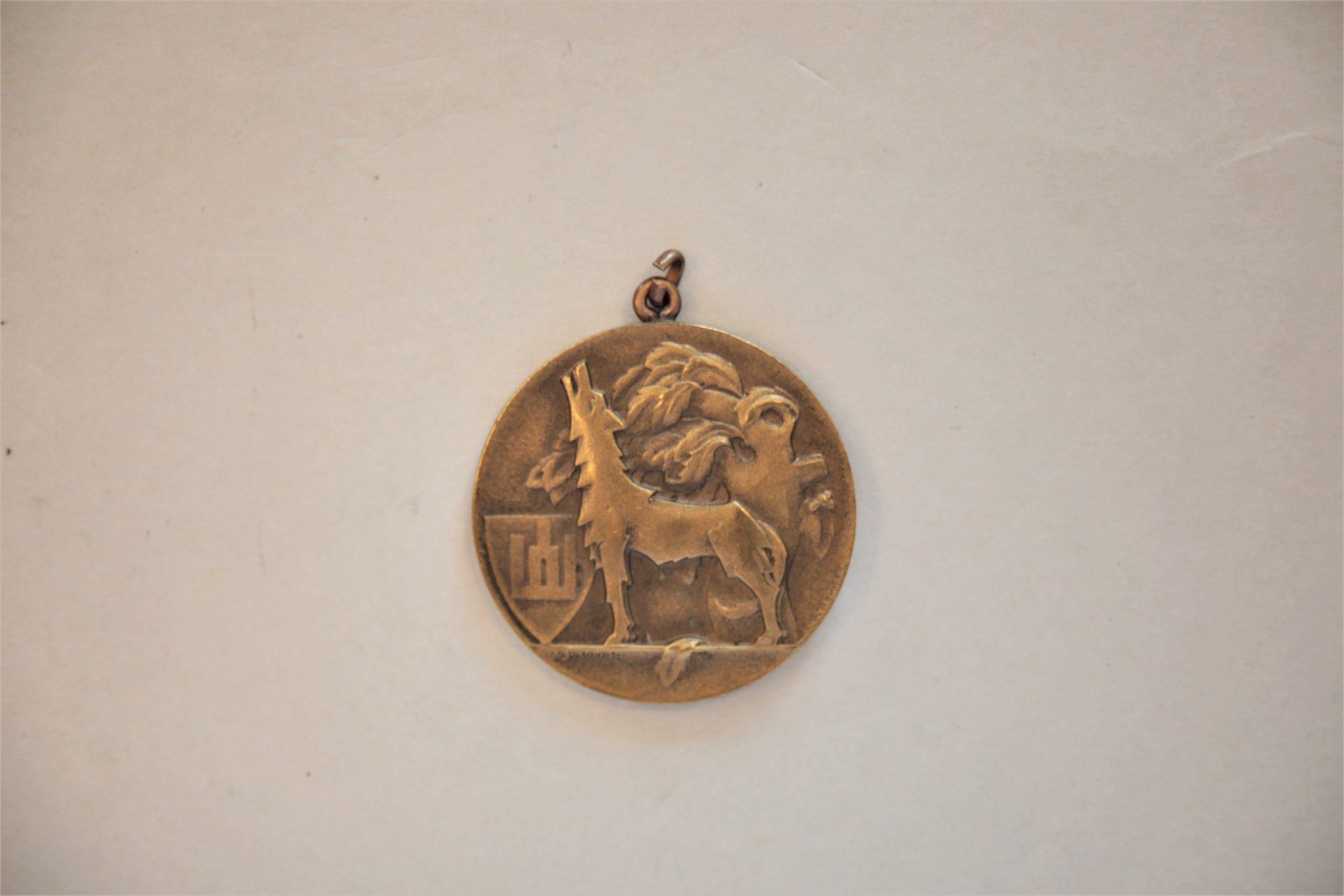 Medalis. Didysis Lietuvos kunigaikštis Gediminas. Metalas. Reversas. Autorius nežinomas
