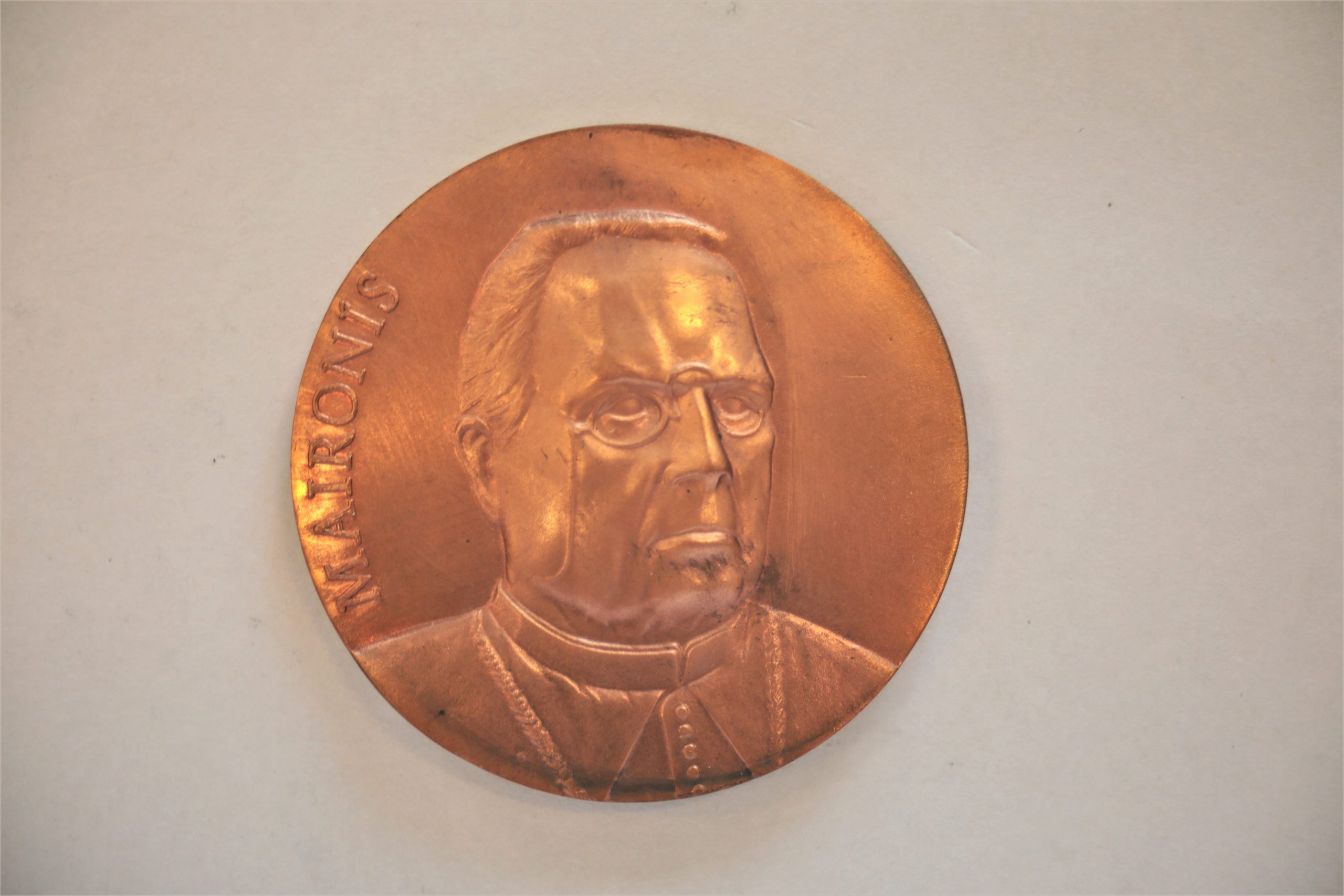 Medalis. Maironis. Metalas. Aversas. Autorius nežinomas